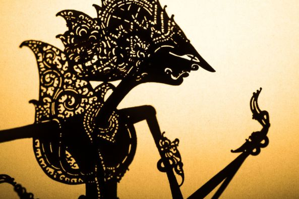 41174266 - traditional indonesian wayang puppet